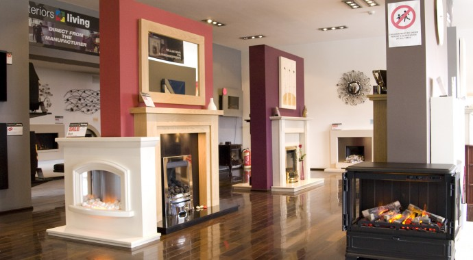 Selection of fires and fireplaces in Leeds largest fireplace showrooms