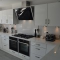 Carrara marble quartz kitchen showroom in leeds