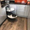 Corner pull out kitchen kitchens modern Leeds