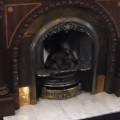 cast iron with marble hearth before installation leeds fireplace showroom