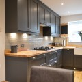 Graphite kitchen with solid oak worktops - kitchens Leeds