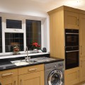 We recently supplied and installed this Shaker Oak kitchen with Black Starlight quartz worktops for Mr & Mrs Dubery. Designed by Sophie.