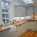 Belfast sink shaker painted kitchen kitchen showroom leeds