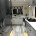 We recently supplied and installed this Acrylic kitchen in Pewter and Argent with White Starlight Quartz worktops for Mr & Mrs Murphy in Sherburn-in-Elmet