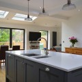Open plan kitchen with large island - kitchens Leeds