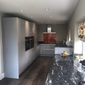 Grey Gloss Kitchen Modern Leeds Slab Handleless