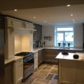 Solid Oak Painted Kitchen with Quartz Worktops Kitchens Leeds