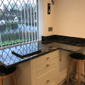 We recently supplied and installed this Shaker painted kitchen in Porcelain with Black Storm granite worktops for Mr & Mrs Edwards in Tadcaster. Designed by Sophie.