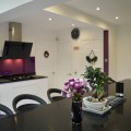 Black starlight Quartz worktops kitchen showroom Leeds