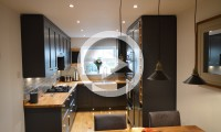 Dark grey shaker kitchen - kitchens Leeds