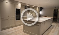 Large island and tall units - kitchens Leeds