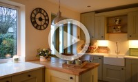 Shaker kitchen with oak worktops kitchens in leeds