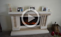 We recently supplied and installed a Limestone and Travertine fireplace and Gazco Electric Fire for Mr Foster in Barwick - in - Elmet