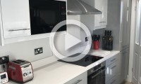 Modern kitchen with integrated microwave - kitchens Leeds