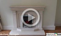 Limestone fireplace with Electric fire, fireplaces in Leeds